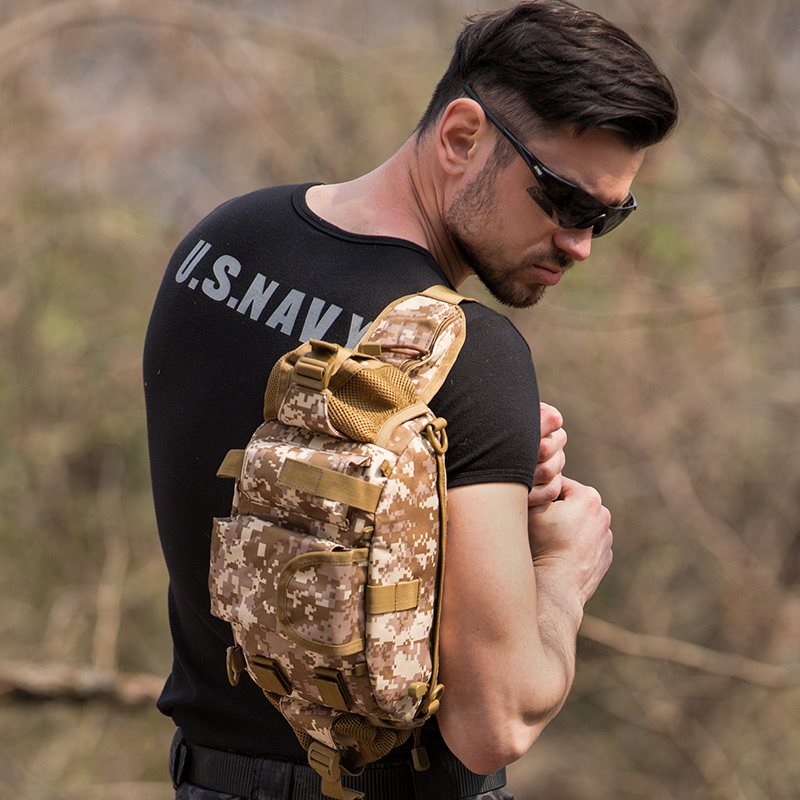 户外战术腰包男休闲多功能迷彩特种兵骑行防水登山斜跨单肩背包
