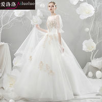 Love Luo light wedding dress 2019 new Korean version of the Princess dream tail trailing thin Sen travel bridal wedding simple