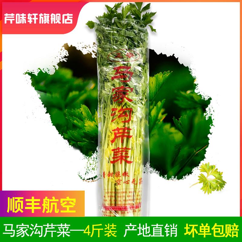 山东青岛特产马家沟芹菜 新鲜蔬菜 绿色蔬菜4斤包顺丰航空