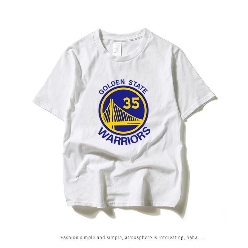 科比库里勇士球衣 杜兰特35号短袖T恤男 夏季纯棉学生篮球训练服