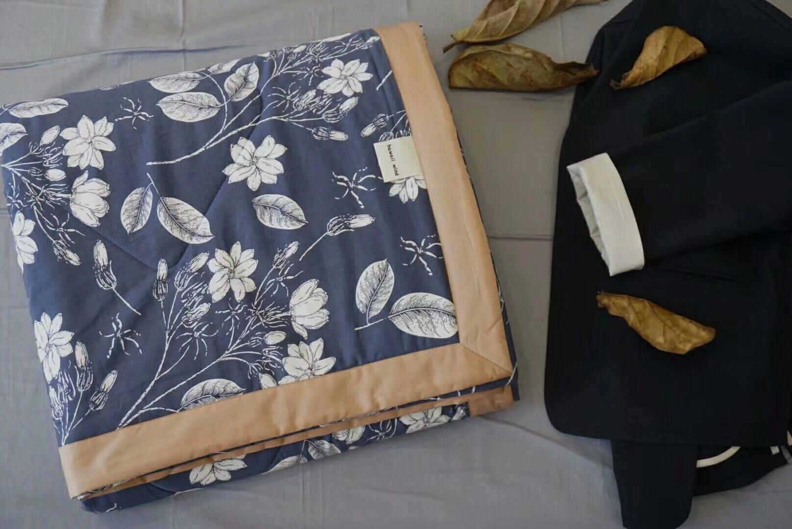新品60支埃及棉新疆千层棉花碎花薄被子空调夏凉被芯高端