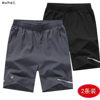 夏季中年男士短裤宽松大码爸爸装外穿夏天5五分裤4休闲速干运动裤