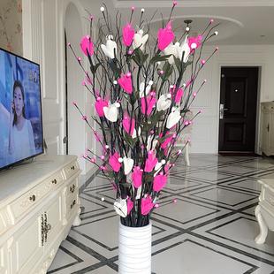 圆柱简约假花仿真花束 落地当头桌面花器落地花艺摆件富贵竹瓷罐