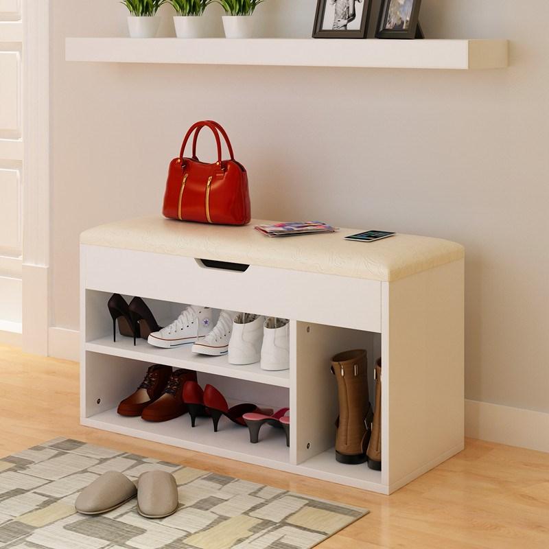 收纳储物换鞋凳子式穿鞋柜门口可坐多功能沙发试皮凳田园鞋架