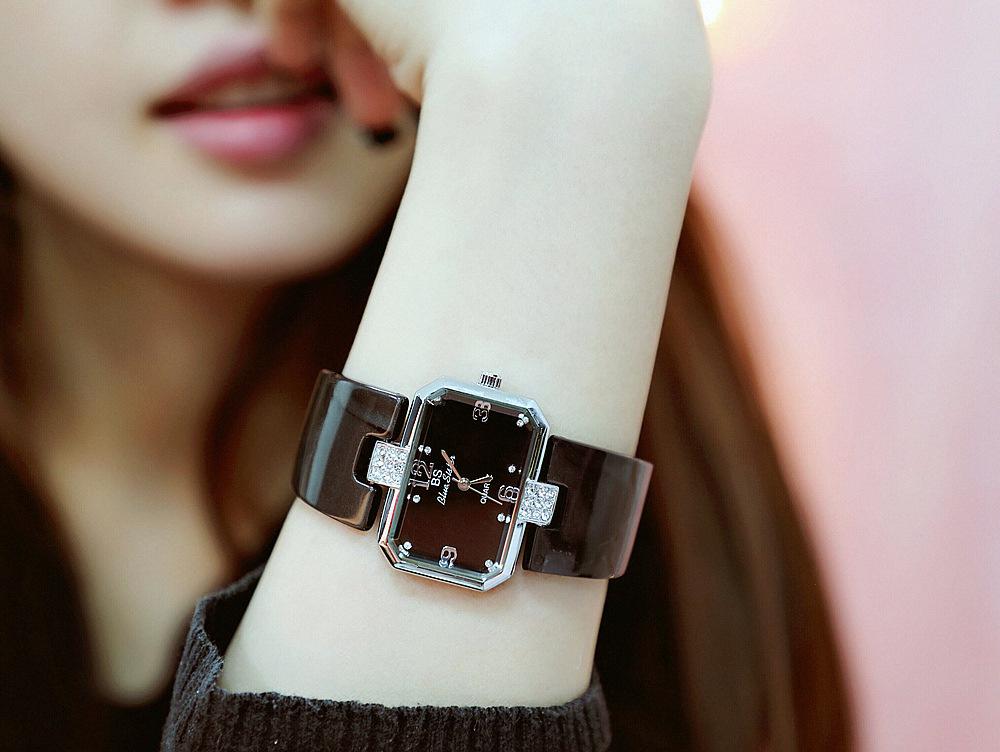 2018新款女士手表正品BS手镯表个性方形石英韩版时尚潮流简约女表
