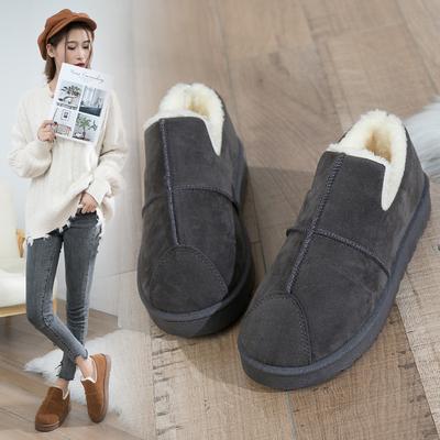 2018冬季新款冬鞋保暖加绒百搭韩版雪地靴女短筒短靴平底学生棉鞋