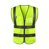 Reflective vest vest armor sanitation worker clothes construction driver car with traffic safety for night riding