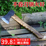 All steel hand forged firewood axe household large coffin chopping wood tree axe outdoor multi-purpose logging axe