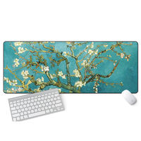 Game large mouse pad lock Chinese style thickening cute Lanting order inspirational laptop desk pad