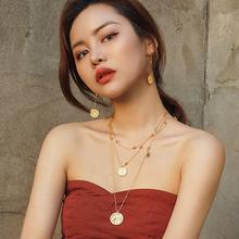 OOK 塔罗牌系列 18K镀金星星双层项链ins风新款叠戴短链女饰品
