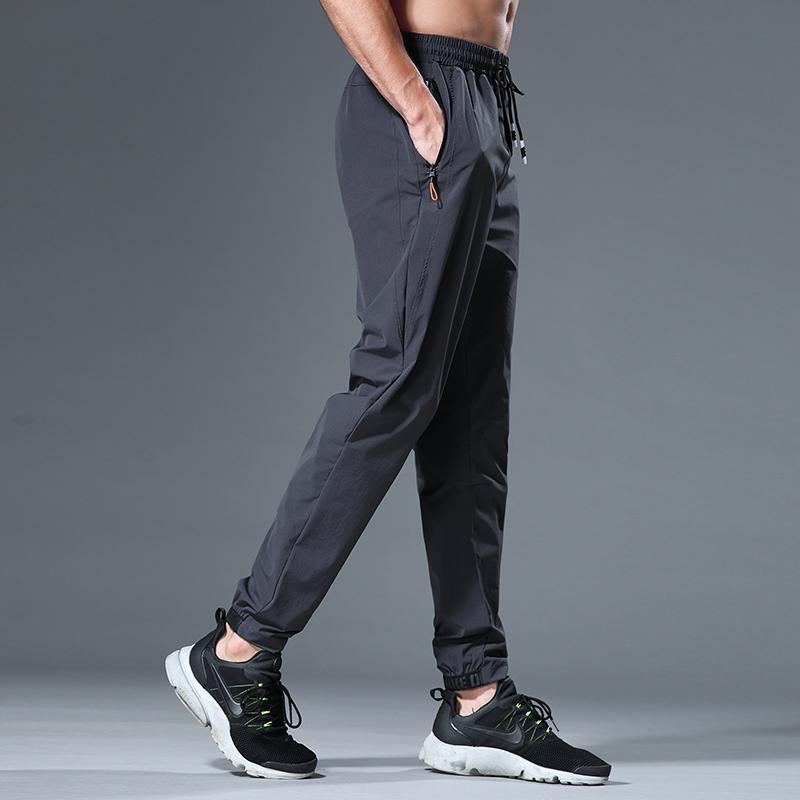 运动裤夏季薄款男宽松速干梭织裤跑步裤健身训练长裤收口小脚裤子