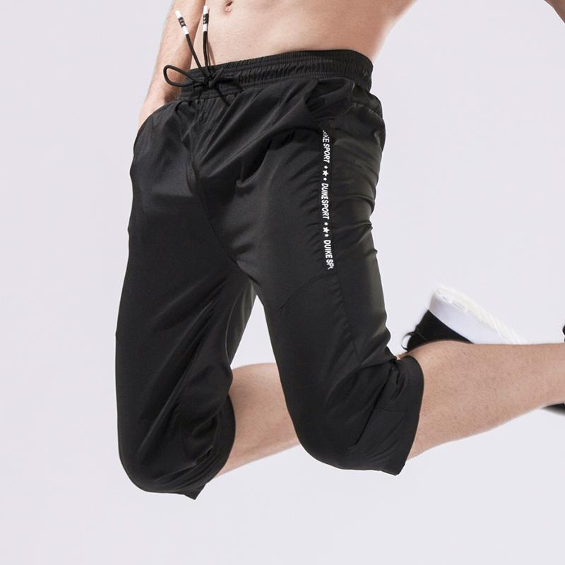 夏季七分裤男运动跑步短裤健身速干薄款中长裤宽松韩版潮修身休闲