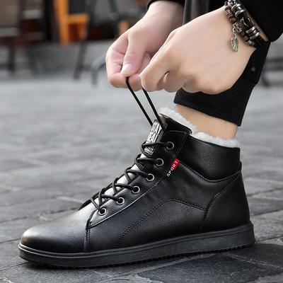 男款高帮休闲棉鞋