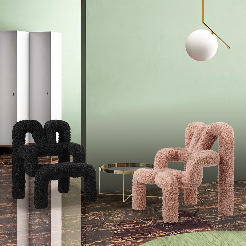 艾由家客厅休闲椅网红沙发椅金刚椅卧室单人躺椅现代简约创意设计