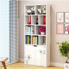 简易五格承重书架特价书柜木质格子柜小柜子储物柜自由组合收纳柜