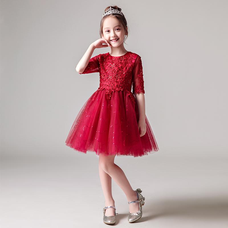 礼服长袖女童
