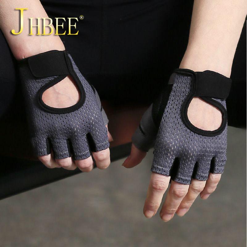 健身手套女半指瑜伽透气防滑耐磨动感单车器械训练运动手套 JHBEE