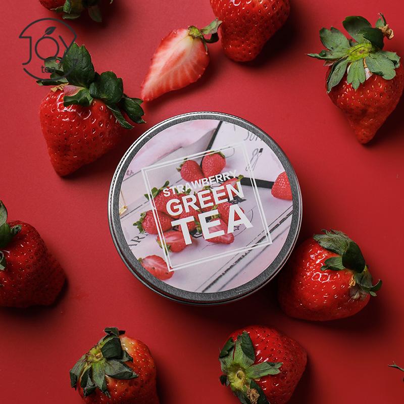 草莓绿茶水果茶冷泡花草茶果粒茶德国花果茶袋泡茶罐装花茶包邮