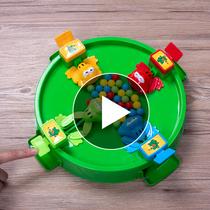 抖音同款青蛙吃豆玩具大号益智抢珠三人多人亲子互动启蒙桌面玩具
