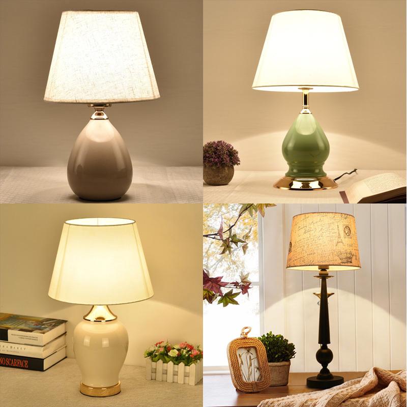 台灯卧室床头灯创意温馨暖光简约现代北欧美式客厅遥控结婚房台灯1元优惠券
