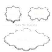 Rectangle Set Cake Cookie Oval Frame Square Cutter