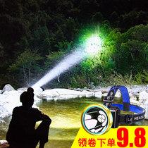 头盔灯野鸡兔黄红光打猎灯200W瓦55疝气探照灯12V强光氙气狩猎灯