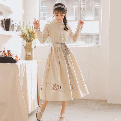 汉元素女抖音日常汉服改良学生古风超仙长裙复古中国风连衣裙夏季