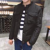 棉服韩版 修身 加厚短款 保暖棉袄 棉衣外套2018新款 潮流冬装 冬季男士