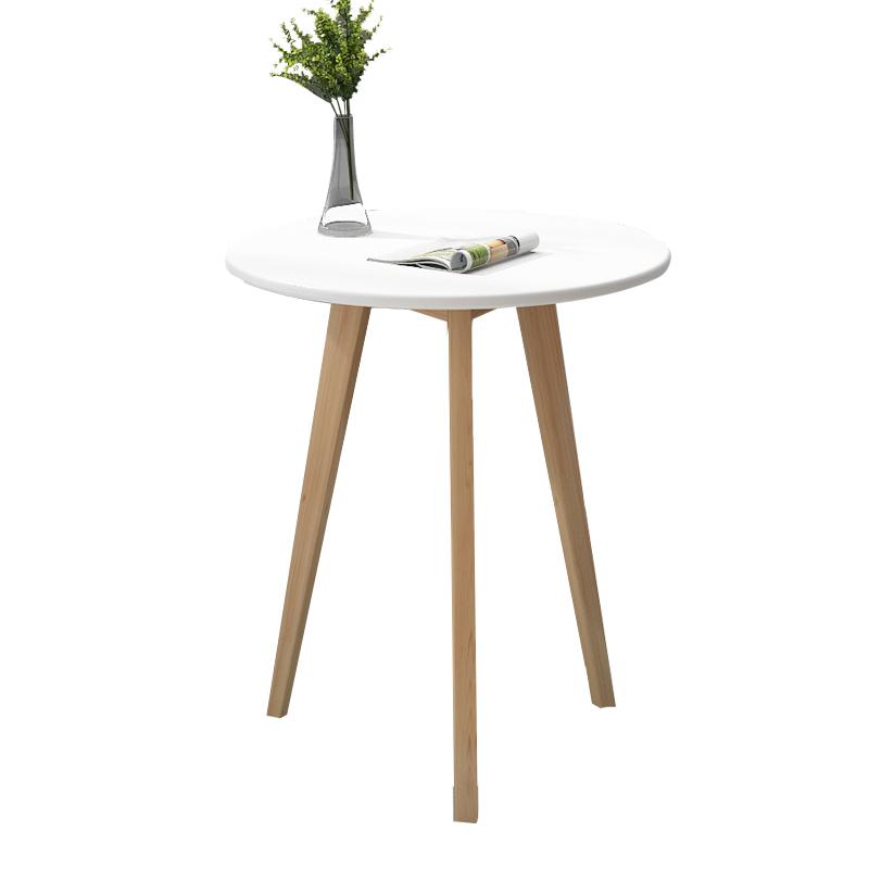 北欧小圆桌简约迷你卧室现代家用小茶几实木创意休闲洽谈小桌子