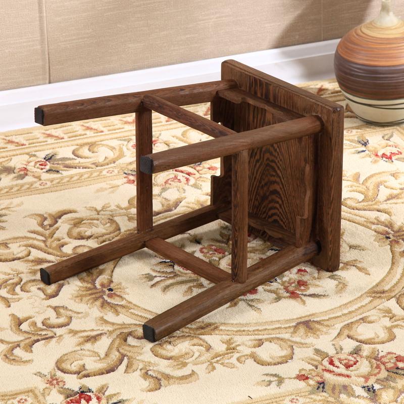 新品鸡翅木矮凳桌凳子家用儿童方板换鞋凳原木小板凳坐凳实木木凳