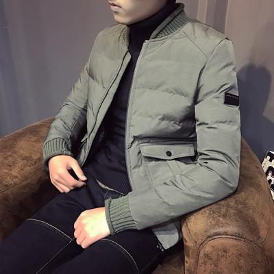 棉衣男冬装新款韩版修身潮男棉服青少年加厚男士帅气休闲棉袄外套