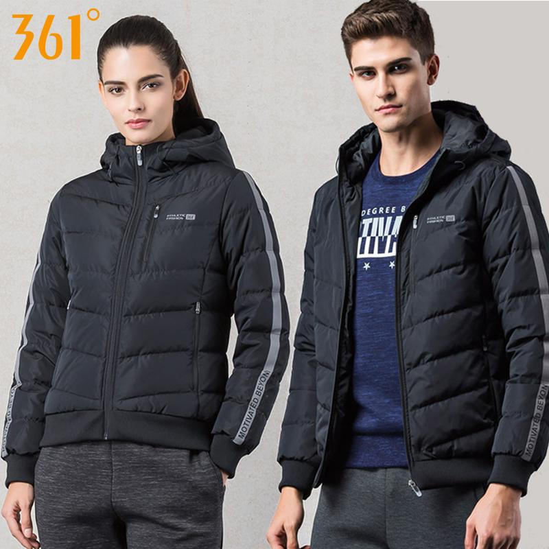 361度男女裝2018冬季新款羽絨服夾克361保暖運動外套男情侶外套