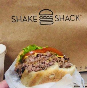 shake shack汉堡牛肉培根芝士shack汉堡热狗shake汉堡 国内代购