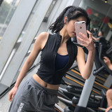岚 pattern sports vest vest female fitness vest sleeveless running zipper shirt quick-drying sexy slimming yoga clothes