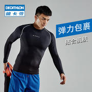 Decathlon sports tights long-sleeved warm men's quick-drying clothes basketball running compression fitness clothes fitness clothes KIP