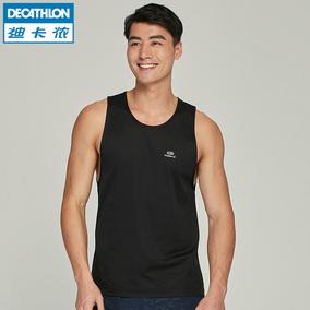 迪卡侬运动背心男健身衣训练速干透气宽松无袖t恤跑步背心RUNM