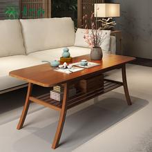 茶几简约现代客厅边几家具储物简易茶几双层楠竹小茶几小户型桌子