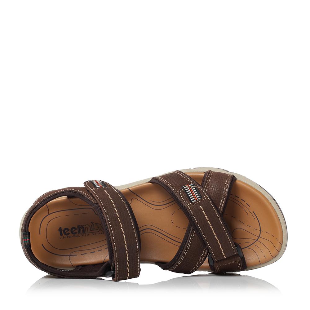 天美意夏季新款商场款牛皮平底男鞋凉鞋沙滩鞋2HP01BL8