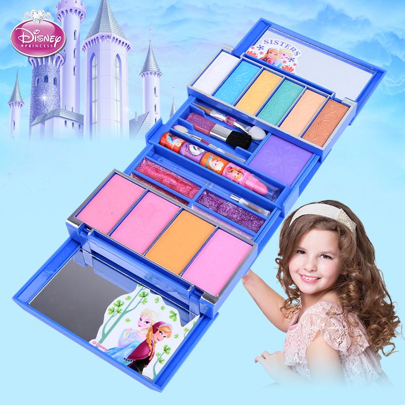 迪士尼化妆盒女童 儿童化妆品公主彩妆盒套装安全无毒车生日礼物