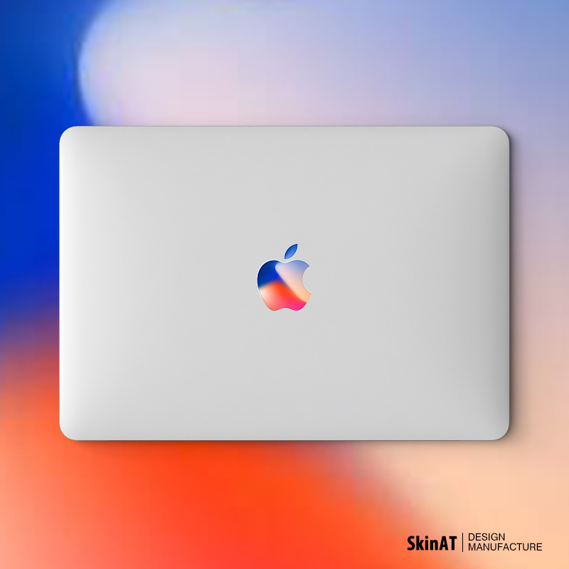 SkinAT MacBook Air貼紙蘋果筆記本logo彩膜Mac Pro電腦貼膜配件