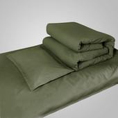 床上用品 床单枕套被罩 学生军训宿舍单位单人 包邮 三件套 军绿色