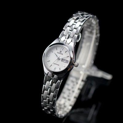 依波表时尚正品手表双日历商务休闲超薄防水石英表女表02223445
