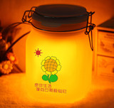 Sun Jar Solar Colorful Sun Shine Tank Moonlight Can DIY Painted Photo for Boyfriend Girlfriend Birthday Gift