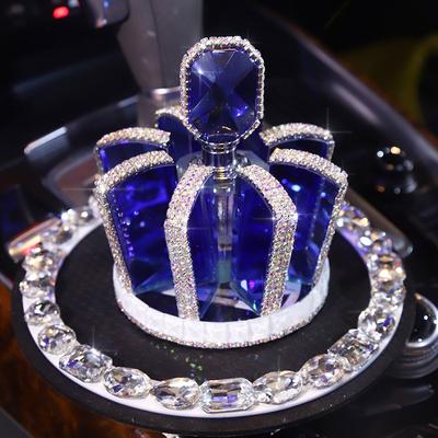 皇冠汽车香水车载香水座式香水镶钻车内装饰品创意车上水晶摆件女