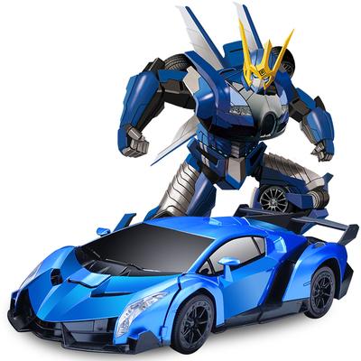 儿童电动玩具感应变形遥控汽车金刚机器人充电动遥控车男孩玩具车