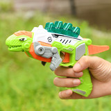 Shaking network red deformable dinosaur gun toy children vocal set gun electric toy light gun submachine gun model
