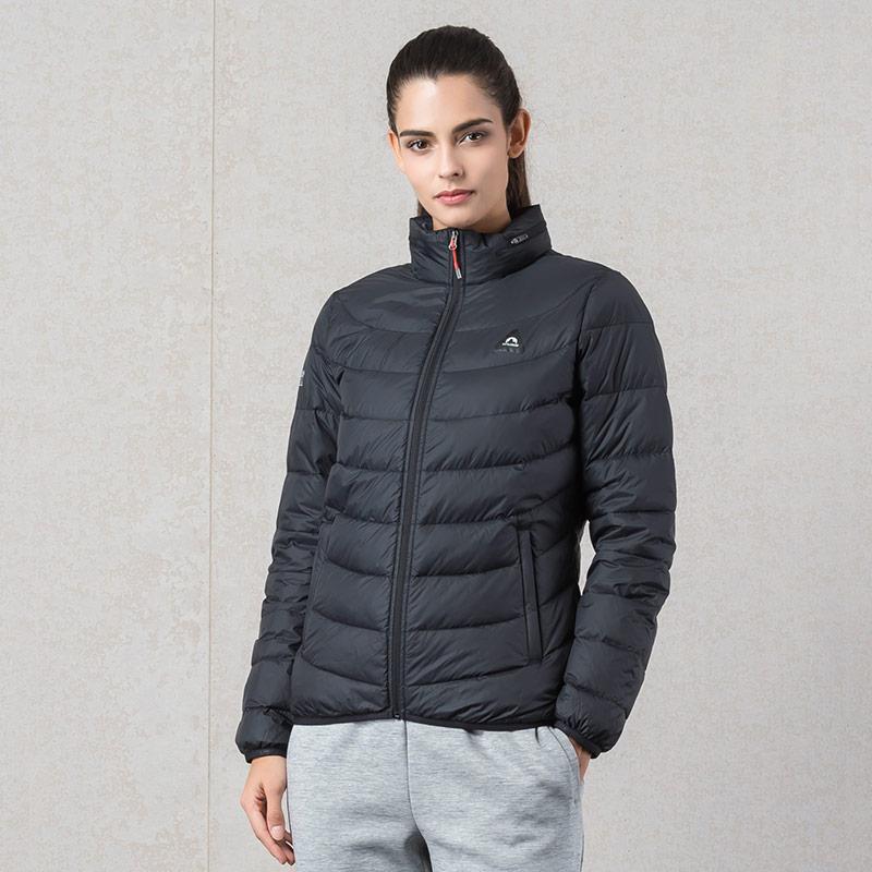 361羽絨服女裝2018冬季新款保暖361度運動外套時尚休閑服短款上衣