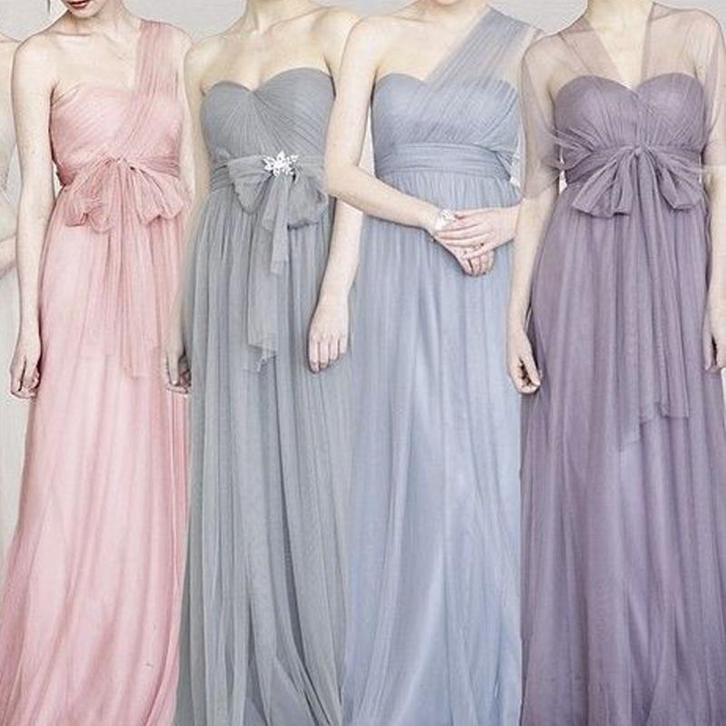 晚礼服长紫色