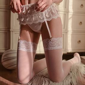 搭配神器花边袜高筒大腿袜高弹网袜长筒袜(仅大腿袜1双,不含其他