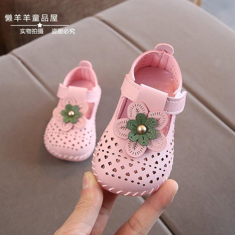 0-1-2-3童鞋皮鞋女学步凉鞋软底公主